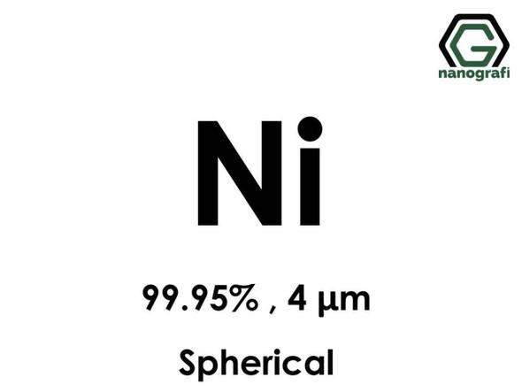 Ni(Nikel) Mikron Toz(Küresel), 4 Micron, 99.95 %