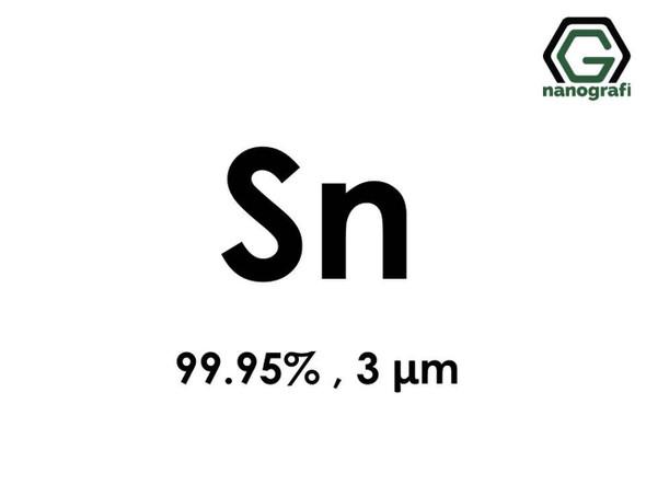Sn(Kalay) Mikron Toz, 3 Micron, 99.95 %