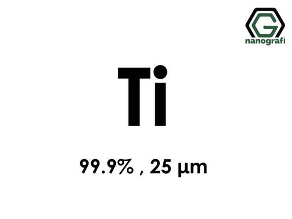 Ti(Titanyum) Mikron Toz, 25 Micron, 99.9 %