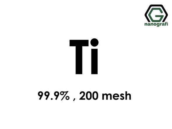Ti(Titanyum) Micron Toz, 200 Mesh, 99.9 %