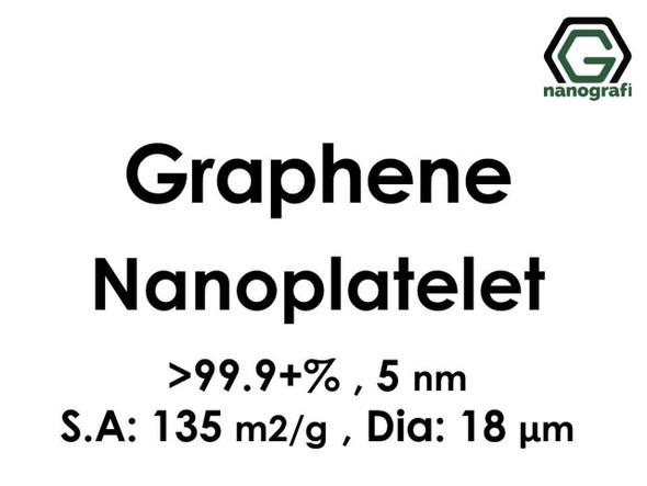 Grafen Nanoplatelet, Saflık: 99.9+%, Boyut: 5 nm, Y.A: 135 m2/g, Çap:18 μm