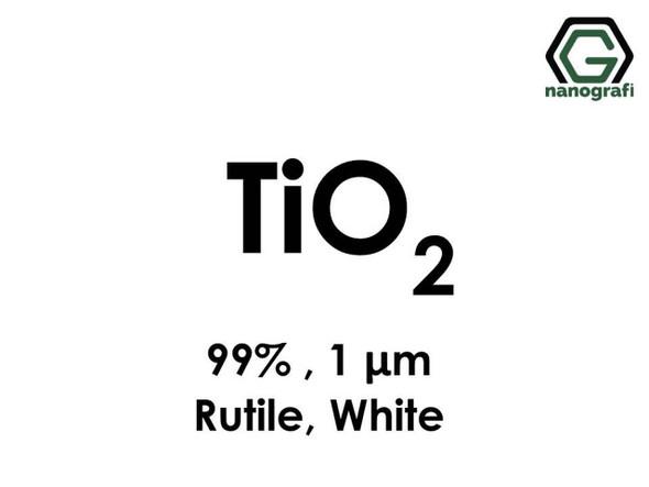 TiO2(Titanyum Dioksit) Mikron Toz( Beyaz, Rutil), 1 Micron,99 %