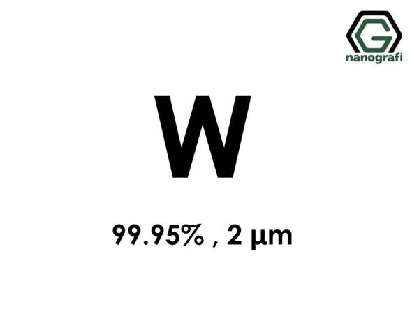 W(Tungsten) Mikron Toz, 2 Micron, 99.95 %