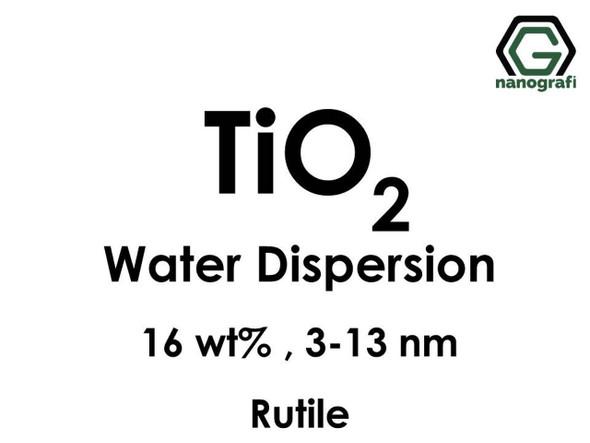 TiO2 - Su İçerisinde, Rutil, 16 %ağ, 3-13nm