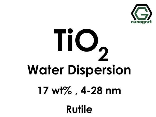TiO2 - Su İçerisinde, Rutil, 17 %ağ, 4-28nm