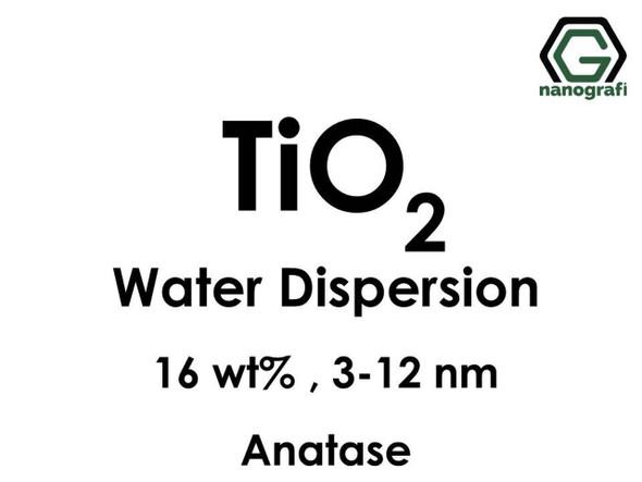 TiO2 - Su İçerisinde, Anataz, 16 %ağ, 3-12nm