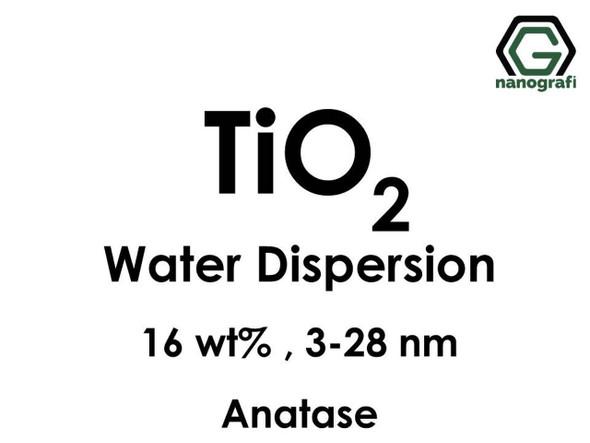 TiO2 - Su İçerisinde, Anataz, 16 %ağ, 3-28nm
