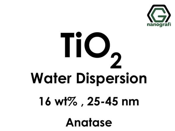 TiO2 - Su İçerisinde, Anataz, 16 %ağ, 25-45nm