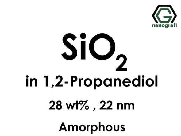 SiO2 in 1, 2-Propanediyol, Amorf, 28%ağ, 22nm