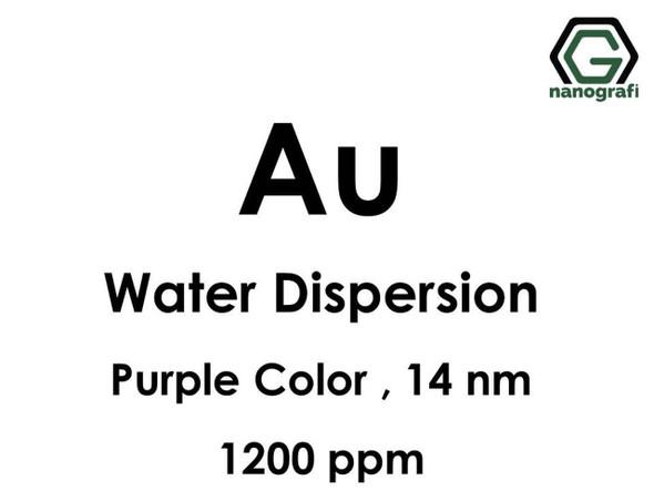 Au - Su İçerisinde, 14 nm, 1,200ppm, Mor Renkte