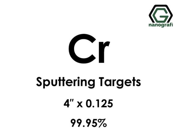Cr Sputtering Target, Çap 4‰″ x 0.125‰″,99.95%