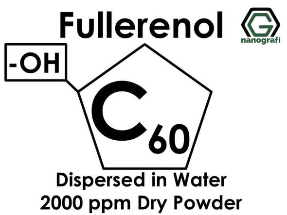 Polihidroksilat Fulleren (Fullerenol) / C60, -OH ile Fonksiyonlaştırılmış, Su İçerisinde Disperse Edilmiş, 2000 ppm