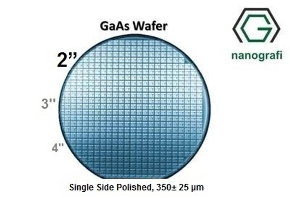 "GaAs Wafer, 2"", Single Side Polished, 350± 25 μm, EPI-ready, Dopant: Zinc (P Type)"