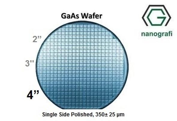 """GaAs Wafer, 4"""", Single Side Polished, 350± 25 μm, EPI-ready, Mobility: 1000-3000"""