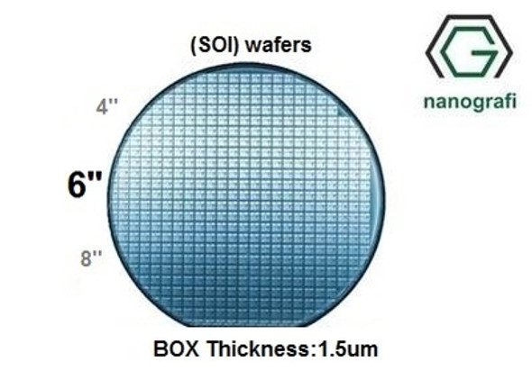 Silicon on Insulator (SOI) Wafers, Size: 6'', Devide Thickness: 220 nm, P type