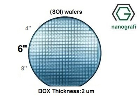 Silicon on Insulator (SOI) Wafers, Size: 6'', Devide Thickness: 340 nm, P type