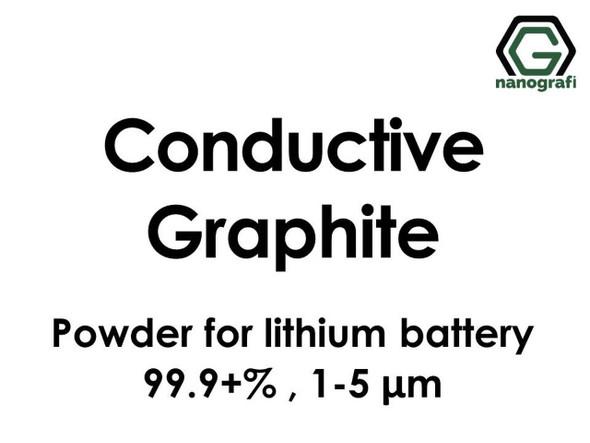 Lityum pil için iletken Grafit tozu, 99.9+, 1-5 mikron
