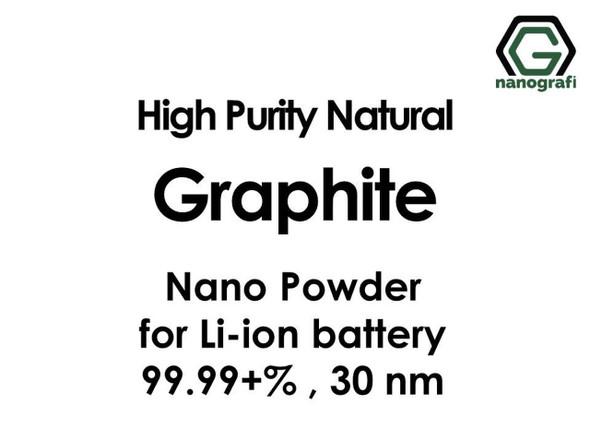 Li-ion Pil için Yüksek Saflıkta Doğal Grafit Nano Toz, 30 nm,% 99.99 +