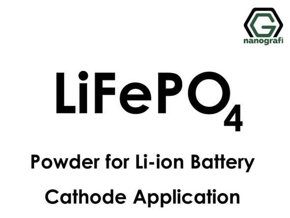 Li-ion Pil Katot Uygulaması için Lityum Demir Fosfat (LiFePO4) Mikron Tozu