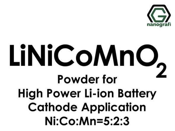 Yüksek Güçlü Li-ion Pil Katot İçin Lityum Nikel Manganez Kobalt Oksit (LiNiCoMnO2) Tozu
