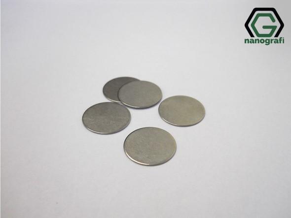 304SS Button Cell Battery Spacer, Çap: 15.4 mm, Kalınlık: 1.1 mm