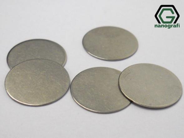316SS Coin Cell Battery Spacer, Çap: 15.8 mm, Kalınlık: 0.5 mm