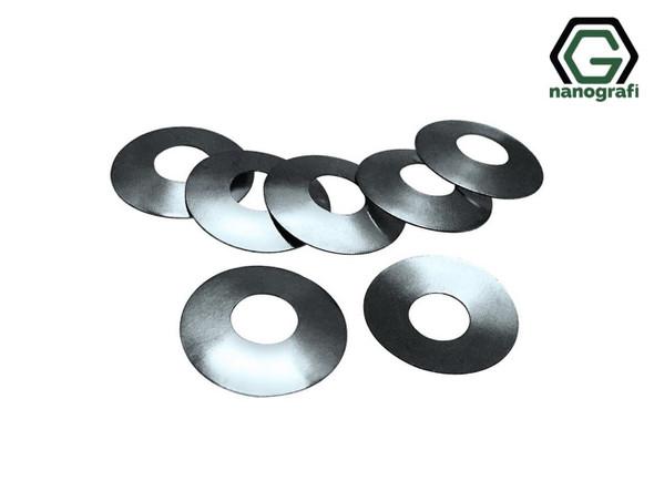 316SS Coin Cell Conical Spring for CR2032, Çap: 15.4 mm, Yükseklik: 1.2 mm, Kalınlık: 0.25 mm