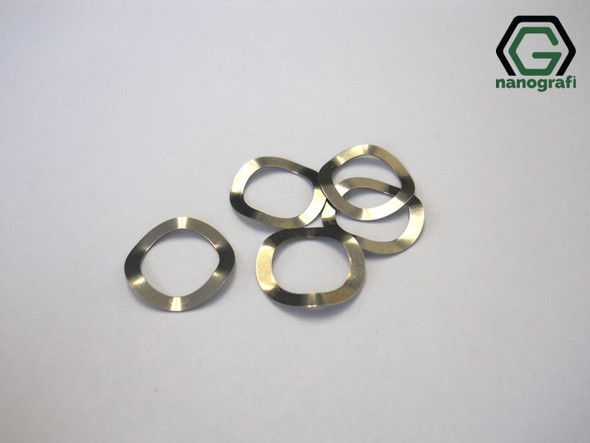 304 Stainless Steel Wave Spring (Belleville Washers) for CR2032, Çap: 15.4 mm, Kalınlık: 0.2 mm, Yükseklik: (1.2±0.03) mm