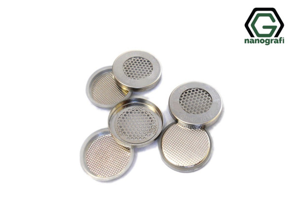 Meshed Lithium Air CR2032 Coin Cell Case with 304SS, Çap: 20 mm, Yükseklik: 3.2 mm