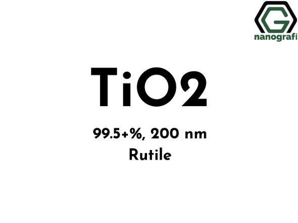 Titanyum Dioksit (TiO2) Nanotoz/Nanopartikül, Rutil :99.5+%, Boyut: 200 nm