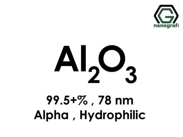 Al2O3(Alüminyum Oksit) Nanopartikül, Alfa, 78nm, Saflık 99.5+%, Hidrofilik