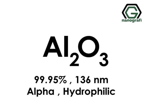 Al2O3(Alüminyum Oksit) Nanopartikül, Alfa, 136nm, Yüksek Saflıkta 99.95%, Hidrofilik