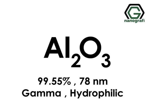 Al2O3(Alüminyum Oksit) Nanopartikül, Gama, 78nm, Saflık 99.55%, Hidrofilik