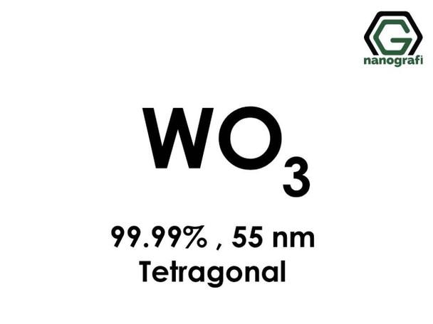 WO3(Tungsten Trioksit) Nanopartikül, 55nm, Saflık 99.99%, Tetragonal