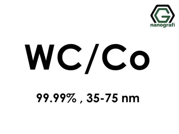 WC/Co(Tungsten Karbür Kobalt) Nanopartikül, 35-75 nm, 99.99%