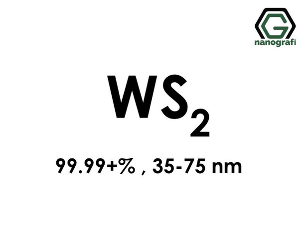 WS2(Tungsten Disulfide) Nanopartikül,99.99+%, 35-75 nm