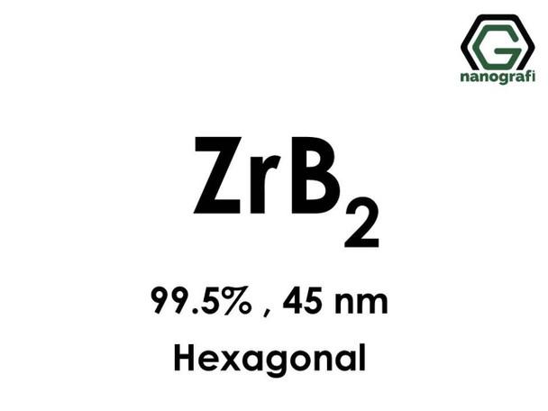 ZrB2(Zirkonyum Diborür) Nanopartikül, 99.5%, 45 nm, Hekzagonal