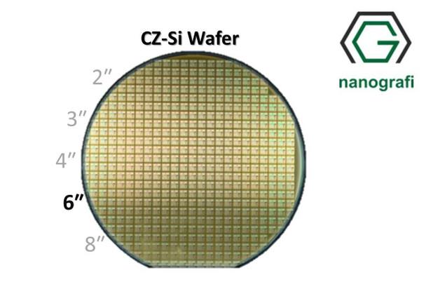 Prime CZ-Si Wafer/Altaş, 6‰″,(100), Bor Katkılı, 1-10 (ohm.cm),1 Yüzeyi Parlatılmış, 675 ± 15 um
