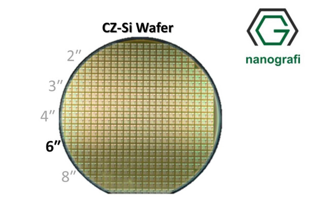 Dummy CZ-Si Wafer/Altaş, 6‰″,(100), Phosphor Katkılı, 0.001 - 100 (ohm.cm),1 Yüzeyi Parlatılmış, 650 ± 50 um