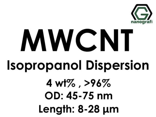 Çok Duvarlı Karbon Nanotüp İzopropanol Dispersiyon (4%ağ, >96+%, Dış Çap: 45-75 nm, Boy 8-28um)