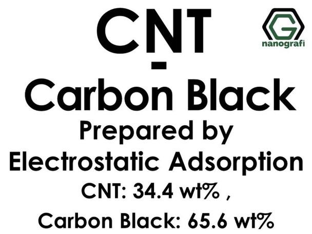 Karbon Nanotüp- Siyah Carbon Elektrostatik Adsorbsiyon ile Hazırlanmış (KNT'ler 34.4%ağ; Karbon Siyah 65.6%ağ)