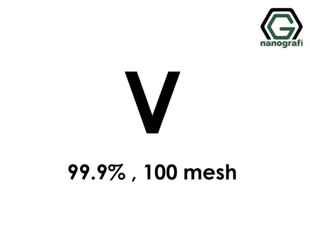 V(Vanadyum) Mikron Toz, 100 Mesh, 99.9 %