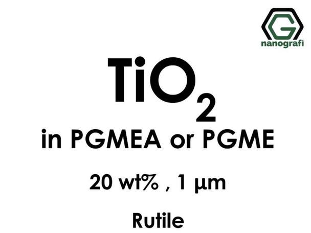 TiO2(Titanyum Dioksit) - PGMEA ya da PGME İçerisinde Dispers Edilmiş, Rutil, 20 %ağ, 1 micron
