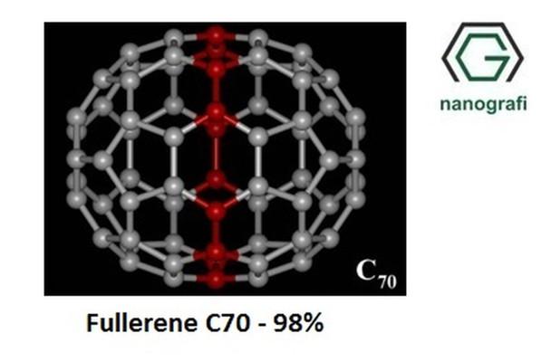 Fulleren-C70 Saflık: 98%