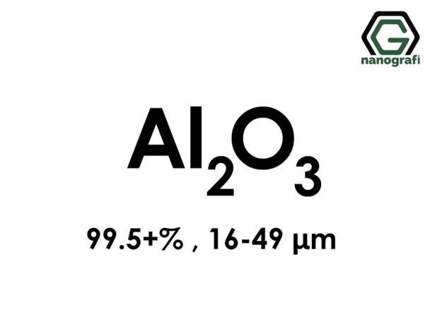 Al2O3(Aluminyum Oksit) Mikron Toz, 16-49 Mikron , 99.5+%