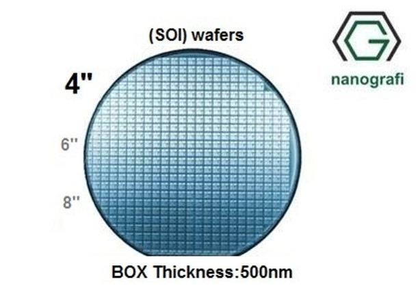 Silicon on Insulator (SOI) Wafers, Size: 4'', Thickness: 725 um, P type (Boron doped)
