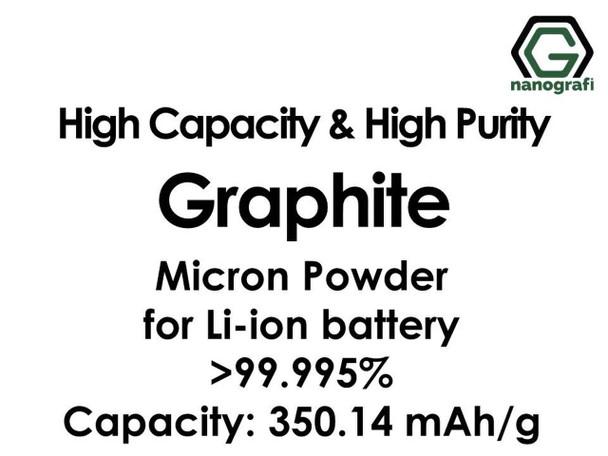 Li-ion Pil için Yüksek Kapasiteli ve Yüksek Saflıkta Grafit Mikron Tozu