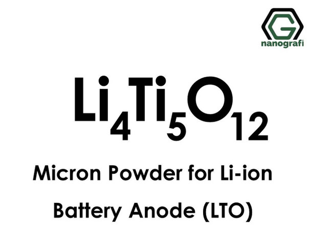 Li-ion Pil Anot için Lityum Titanate Oksit Mikron Tozu Li4Ti5O12 (LTO)