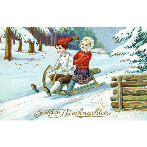 Vintage Christmas Postcard - DIY Painting By Numbers Kit