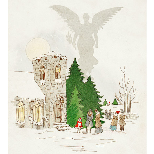 White Christmas with an Angel - DIY Painting By Numbers Kit